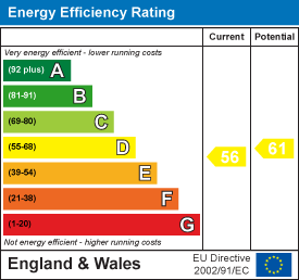 Energy efficiency rating: 56 current, 61 potential