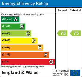 Energy efficiency rating: 75 current, 75 potential
